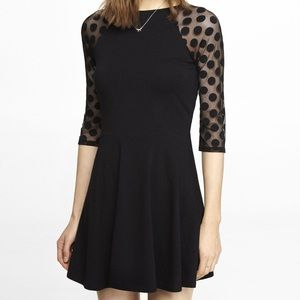 🖤EXPRESS SKATER DRESS WITH MESH SLEEVES🖤